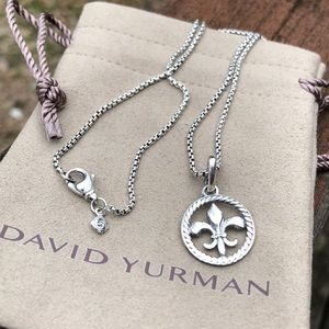 David Yurman Fleur de Lis 925 Silver necklace